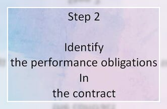 Step 2 Identify the performance obligations in the contract